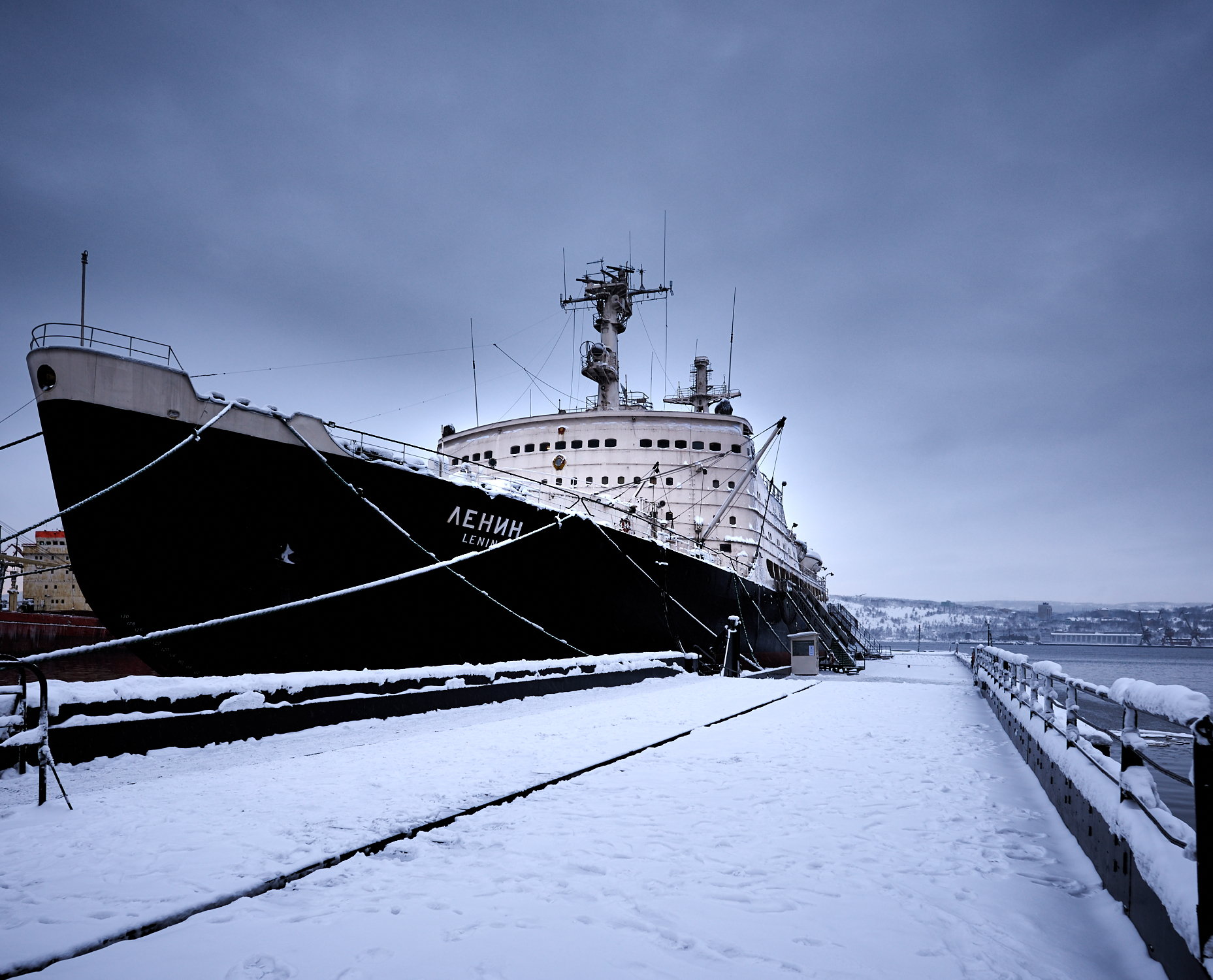 Icebreaker Lenin - the first in the world nuclear ship