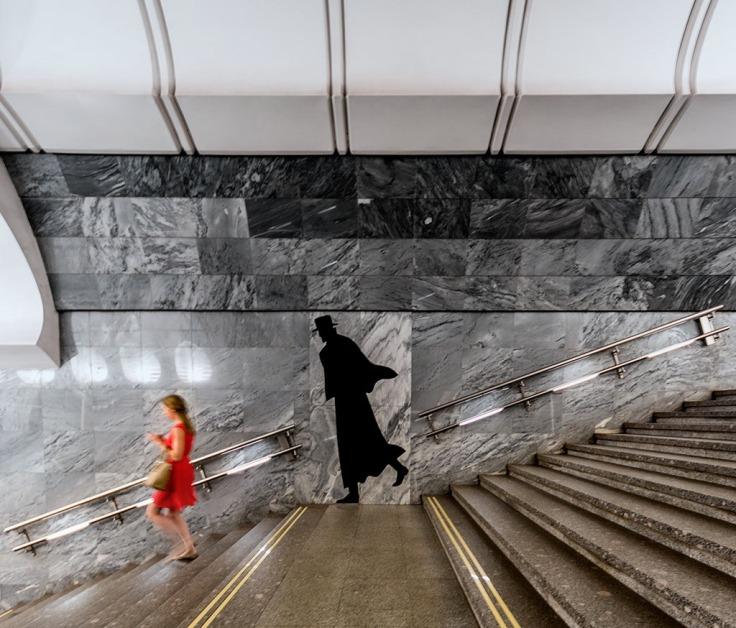 TheDostoyevskaya station on Moscow Metro