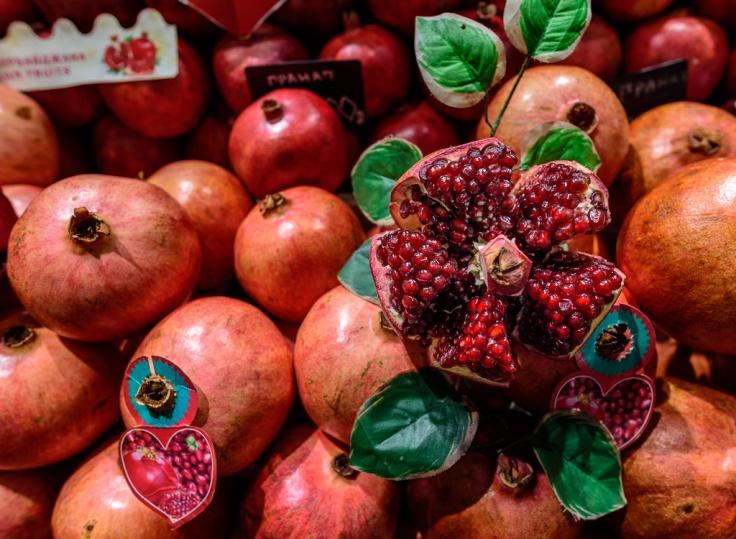 Moscow Market Pomogranates