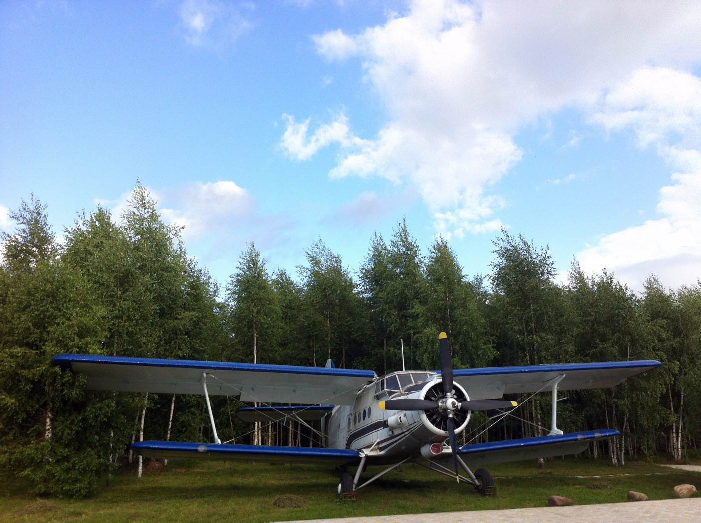 Resting Antonov An-2 airplane