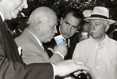 Don Kendall pours a round of Pepsi for everyone