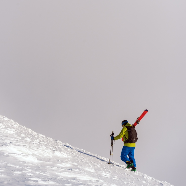 Skier Climbing